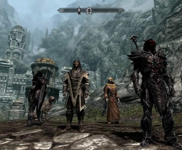 Me and my posse in Skyrim