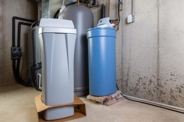 AO Smith Water Softener in a utility room