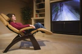 Woman sitting on IMG recliner