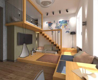 loft bed in a Teenager's room