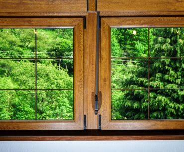 Laminated glass windows in villagr house