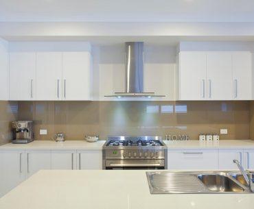 New modern kitchen with XO range hoods