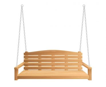 wooden-porch-swing-bench-hanging-on-chains
